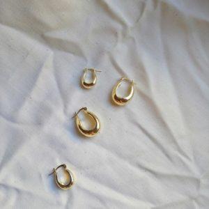 gold plated horseshoe shaped hoop earrings
