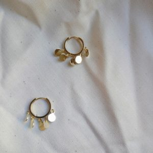 gold huggie earrings for women