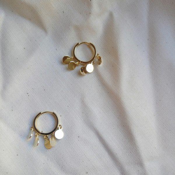 gold huggie earrings for women