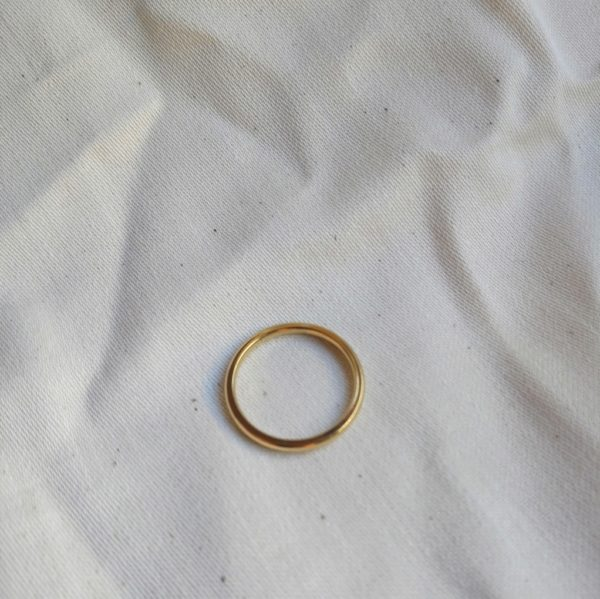 gold plated skinny stacking ring