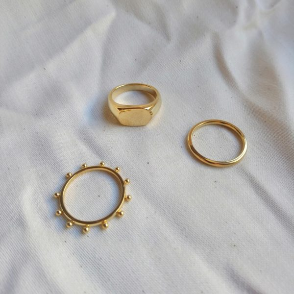 gold plated stacking rings