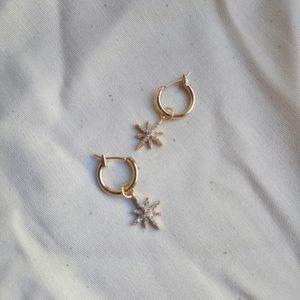 gold plated pendant earrings