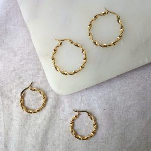 shop twisted hoop earrings online