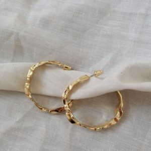 buy large gold plated hoop earrings online