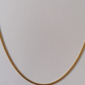 18 karate gold plated thin chain link necklace